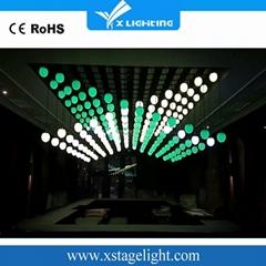 Manufacturer full color stage dmx512 3d ball led Kinetic lights