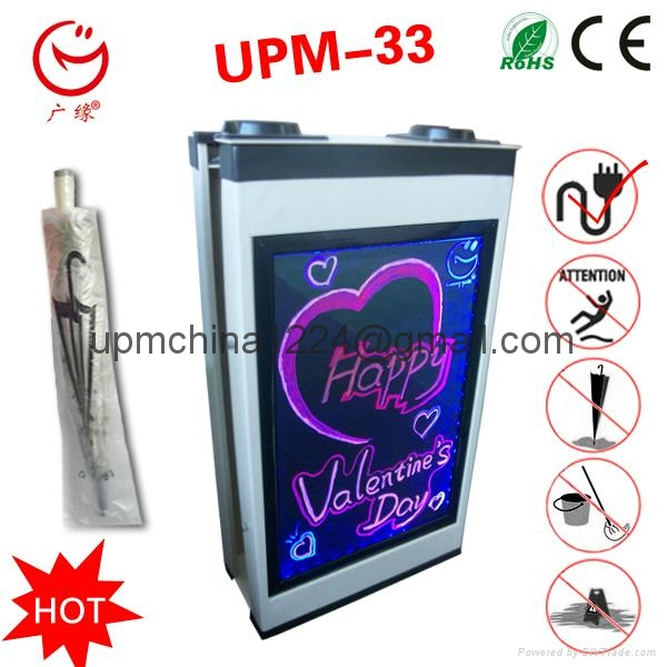LED screen advertising umbrella packing machine with writing board 1