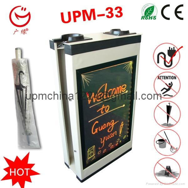 LED screen advertising umbrella packing machine with writing board 5