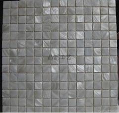Pure White Square River Shell Mosaic for indoor decoration