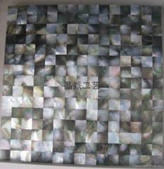 正方形黑蝶贝马赛克瓷砖