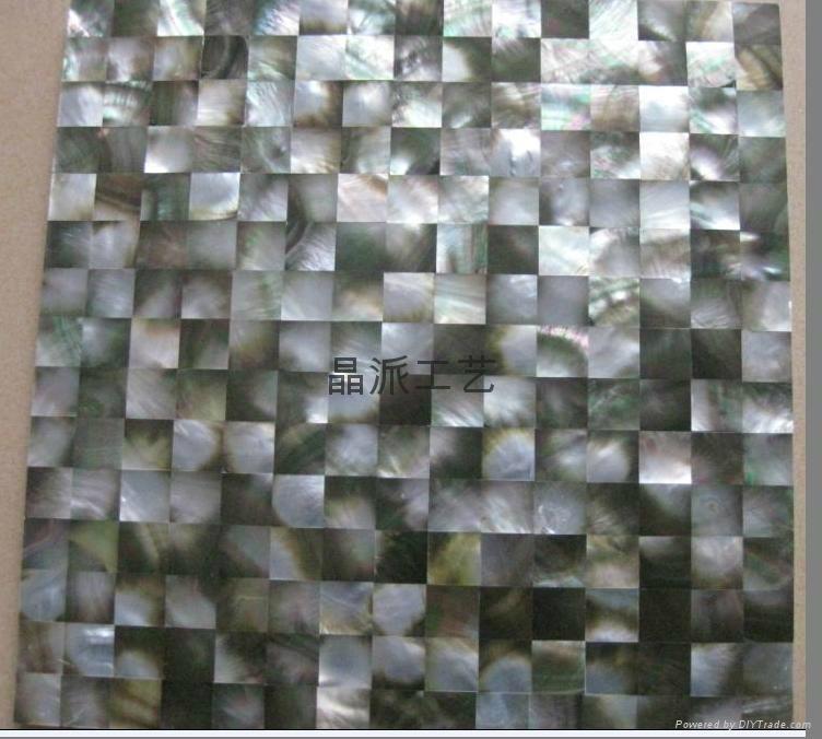 Square Blacklip Shell Mosaic Tiles 2