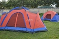 Family camping outdoor tent