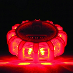 Portable Round LED safety lights rotating road flare