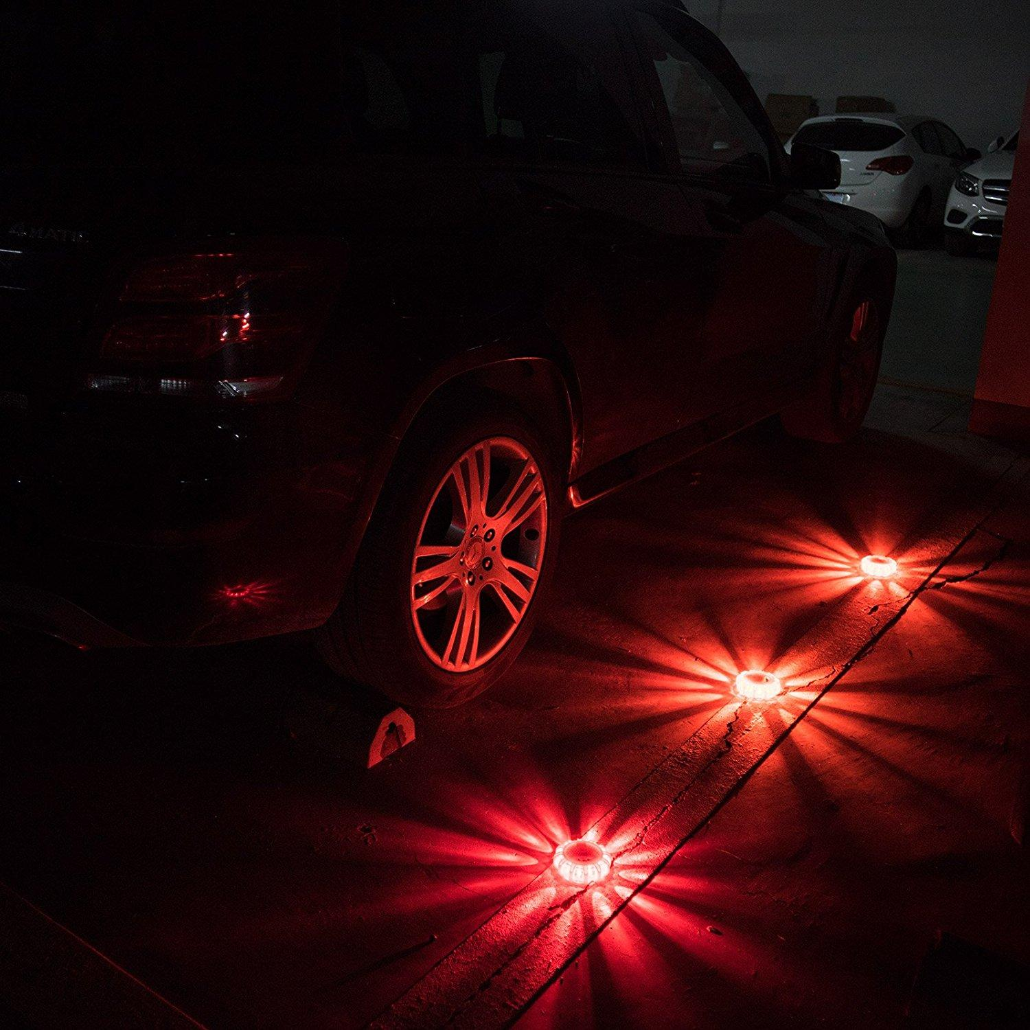 3 pack non-rechargeable traffic strobe warning light road safety flare 7