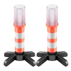 2 Pack Car LED Strobe Light LED Traffic Baton Light Led Road Baton