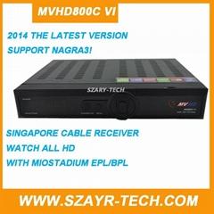 Singapore Starhub box MVHD800C-VI+Youtube+WIFI+Nagra3 With icam Can Watch BPL
