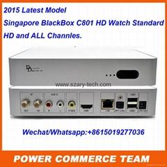2015 Latest Model starhub cable box BlackBox C801 TV Box for Singapore box