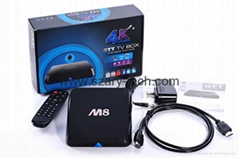 Original M8 Android4.4 kitkat Google Smart TV Box Amlogic S802 Quad Core 4k XBMC