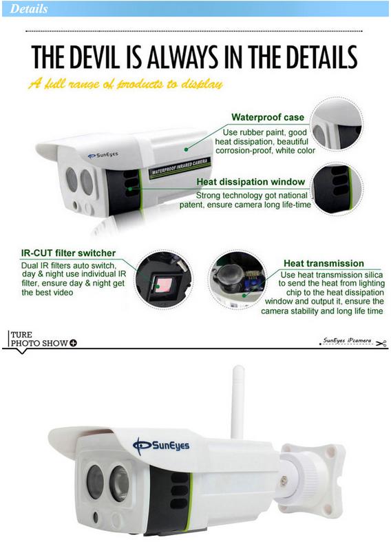 ONVIF Mini Wireless IP Camera Outdoor 720P Waterproof IP66