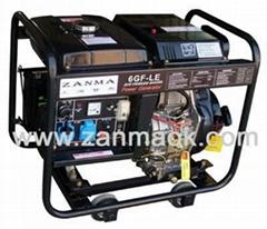 熱銷上海贊馬6kVA家用220V柴油發電機組