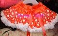 New arrival gorgeous girl's full fluffy holiday pettiskirt dot satin petticoat