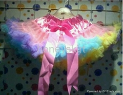 flower girl's petticoat girl's skirt dancing dress evening dress
