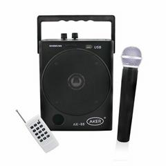 aker AK88W wireless megaphone wireless headset mic voice amplifier speak