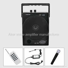 aker AK88W pa system with wireless mic and wireless control loudspeaker speakers