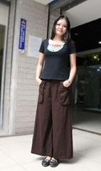 純棉闊腿褲褲裙2001款