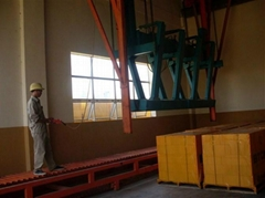 Hydraulic frequency conversion reversal crane