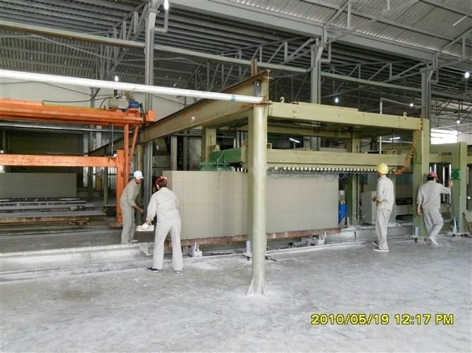 Aerated autoclaved concrete block machine (AAC) line or Autoclave section