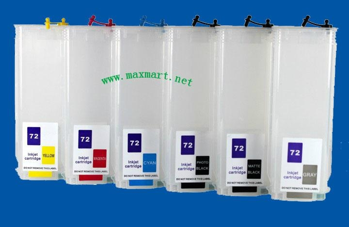 Refillable ink cartridge for HP Designjet T610 T770 T1100 T1200 1