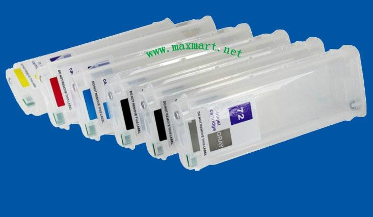 Refillable ink cartridge for HP Designjet T610 T770 T1100 T1200 2