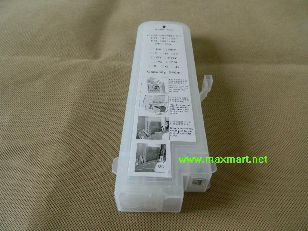 Refillable ink cartridge for Canon IPF5000 1
