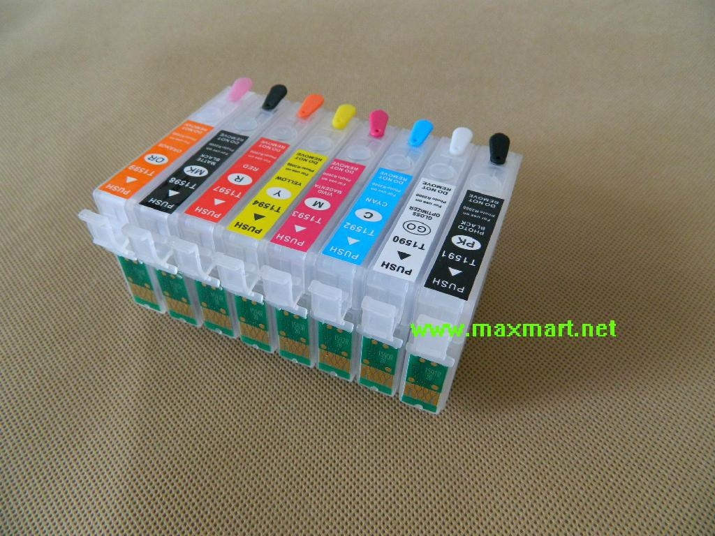 Refillable ink cartridge for Epson Stylus Photo R2000 4