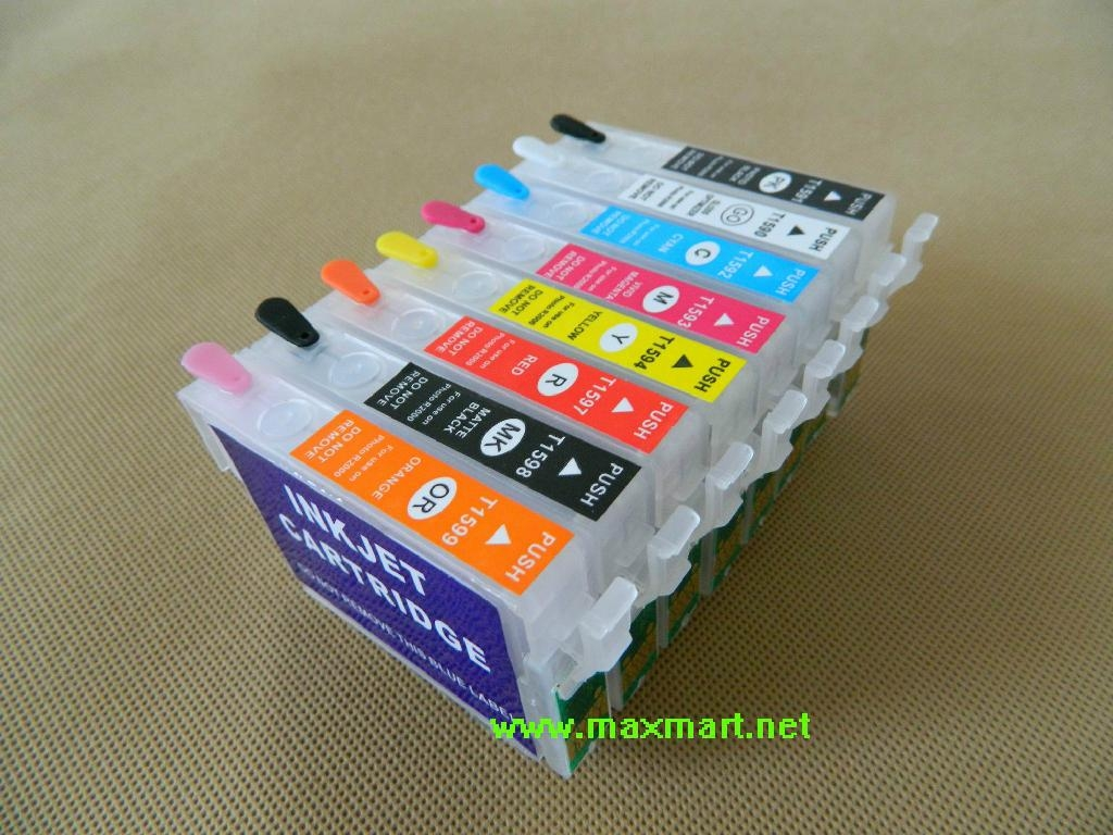 Refillable ink cartridge for Epson Stylus Photo R2000 5