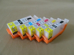 Refillable ink cartridge for Canon PGI-520 CLI-521