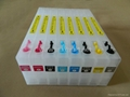 Refillable ink cartridge for Epson 4000 7600 9600