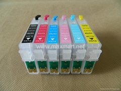 Refillable ink cartridge for Epson Stylus Photo 1400 1430 1500W