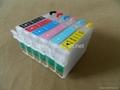 Refillable ink cartridge for Epson Stylus Photo 1400 1430 1500W 2