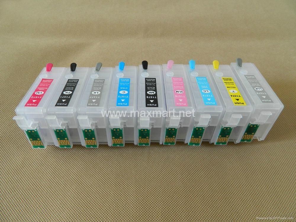 Refillable ink cartridge for Epson Stylus Photo R3000 6