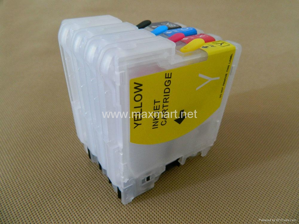 Refillable ink cartridge for LC39/LC985/LC38/LC67 2