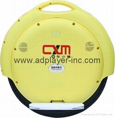 CXM A8 Self-balanced Electric Unicycle 4400mAh 264WH with USB Port LED light