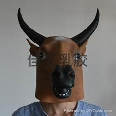 latex cow oxe mask
