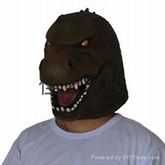 latex movie Godzilla mask