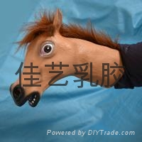 latex realistic horse hand puppet