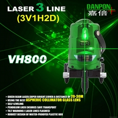 Green Red multi line laser level.three laser lines