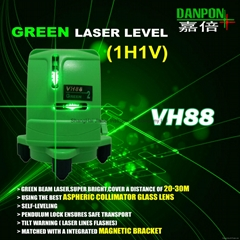 Green laser level tool two lines