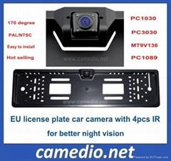 IR night vision European EU  license plate rear view car camera