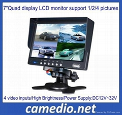 "Dash Quad Display 7"" Split Lcd Monitor Support Single,dual,triple,qua..."
