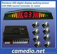 LED display parking sensor system Car reversing sensor Auto Reversing assistant