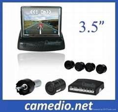 3.5/4.3/7inch rear view parking sensor system