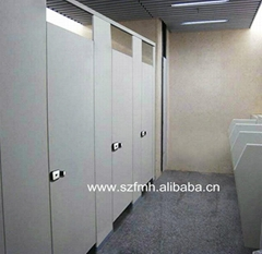 FMH waterproof wood hpl toilet partition panels