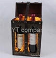 high grade archaize gift wine carrier /box wholesale  1
