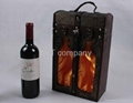 high grade archaize gift wine carrier /box wholesale  2