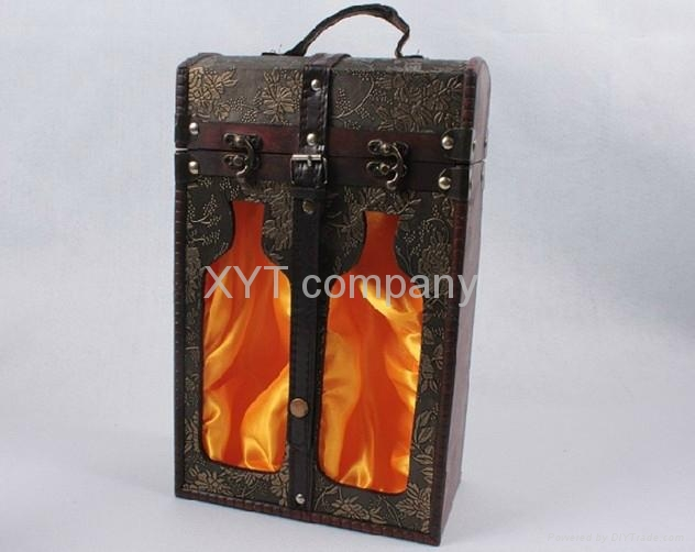 high grade archaize gift wine carrier /box wholesale  3