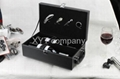 stock unique PU leather gift red wine box factory wholesale  2