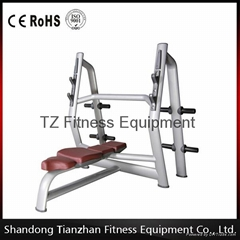 fitness gym equipment olympic flat bench