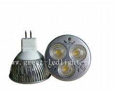 3W MR16/GU5.3 LED Spotlight, 3W LED Spot Lamp/3W LED Bulb